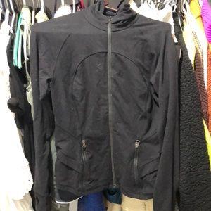 Lululemon track jacket peplum bottom in the back